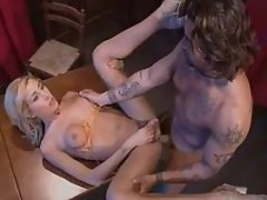 Tranny fucking w guy right on table