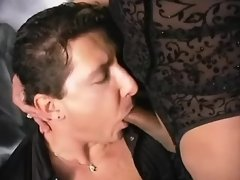 Hot tranny and boss suck each other