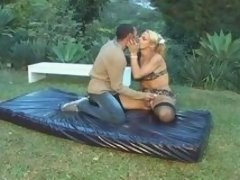 Breathtaking picnic with sex-crazy shemale ends up in tight guy's asshole